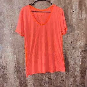 Lululemon sz 10 loose fitting neon orange top